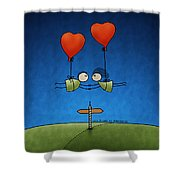 Love Beyond Boundaries Shower Curtain by Gianfranco Weiss