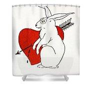 Love Bunny Shower Curtain