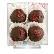 Love Cakes Shower Curtain