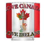 Love Canada Love Ireland16in Shower Curtain