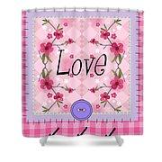 Love Cherry Blossom Shower Curtain