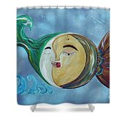 Love Connect - You Are My Moon And Sun Shower Curtain