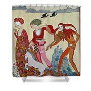 Love Desire And Death Shower Curtain
