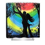 Love Energy Shower Curtain