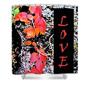 Love Fall Edition Shower Curtain