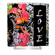 Love Fall White Edition Shower Curtain