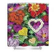 Love Flowers Garden Shower Curtain