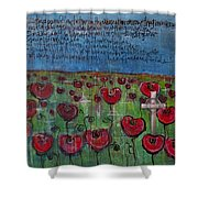 Love For Flanders Fields Poppies Shower Curtain