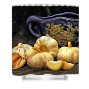 Love For Garlic Shower Curtain