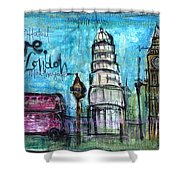 Love For London Shower Curtain