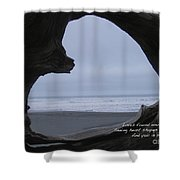 Love Found Haiku Shower Curtain by ME Kozdron