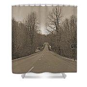 Love Gap Blue Ridge Parkway Shower Curtain