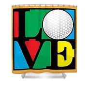 Love Golf Shower Curtain