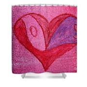 Love Heart 2 Shower Curtain