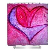 Love Heart 3 Shower Curtain