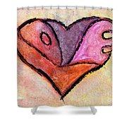 Love Heart 4 Shower Curtain