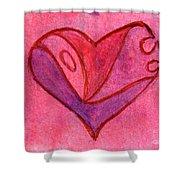 Love Heart 6 Shower Curtain