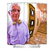 Love His Bow Tie Shower Curtain