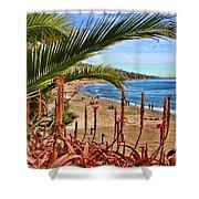 Love In Laguna Beach By Diana Sainz Shower Curtain