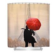 Love In Paris Shower Curtain