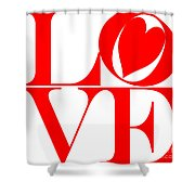 Love In Red Shower Curtain