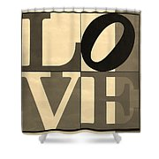 Love In Sepia Shower Curtain