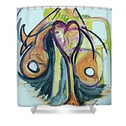Love In The Chair Shower Curtain