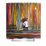 Love In The Rain Shower Curtain