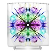 Love In The Stars 2 Shower Curtain