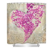 Love Is A Gift Shower Curtain by Fran Riley