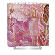 Love Is Crowned Shower Curtain