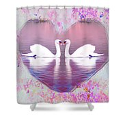 Love Is Everywhere Shower Curtain by Bill Cannon