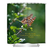 Love Is Like A Butterfly Shower Curtain