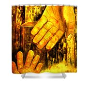 Love Is The Deciding Factor Shower Curtain