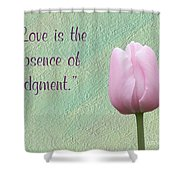 Love Is Tulip Shower Curtain