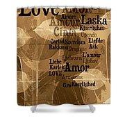 Love Leaves Shower Curtain