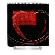 Love Letter Fine Fractal Art Shower Curtain by Georgeta  Blanaru