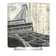 Love Letter From Paris Square Shower Curtain
