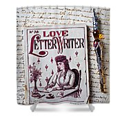 Love Letter Writer Book Shower Curtain