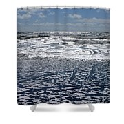 Love Letters In The Sand Shower Curtain