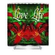Love Life Mirrored Lilies Shower Curtain