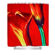 Love Lilies Shower Curtain