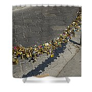 Love Locks - Florence Italy Shower Curtain