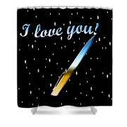 Love Message Digital Painting Shower Curtain