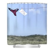 Love Message From Cloud 9 Shower Curtain by Joana Kruse