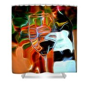 Love My Wine - Bright Colours Shower Curtain