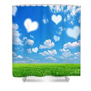 Love Nature Background Shower Curtain
