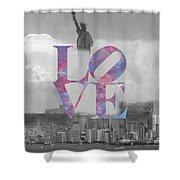 Love - New York City Shower Curtain