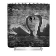 Love... Shower Curtain by Nina Stavlund
