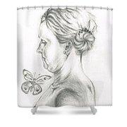 Loves- Her Butterflies Shower Curtain
